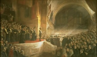 [ Tom Roberts: Opening of the first Federal Parliament, Melbourne ]